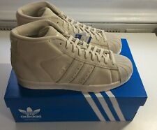 Adidas Originals Pro Model Beige Brown Shell Toe Shoes [BZ0213] men size 9