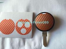 Carbon Orange Folie Dekor Schlüssel Key Smart Cabrio AMG fortwo 450 Brabus Coupe