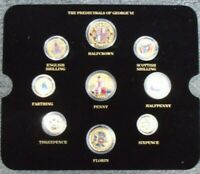 GEORGE VI COINAGE GOLD EDITION MULTI LISTING GOLD PLATED COINS ENAMELED