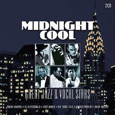 MIDNIGHT COOL-GREAT JAZZ & VOCAL STARS  2 CD NEUF