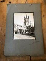 ANTIQUE/VINTAGE PHOTO OF GLOUCESTER CATHEDRAL (ENGLAND) A4-SIZED