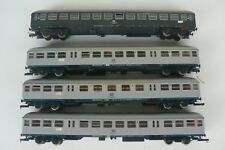 ROCO rame complète de 4 wagons voyageurs DB gris métal 4244 44401 44402