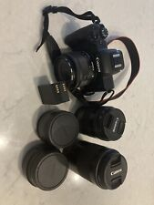 Canon M50 with set of lenses