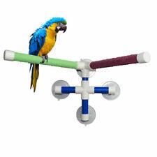 Double Stick Parrot Bath Stand Shower Standing Platform Bird Perch Rack Pet Toys