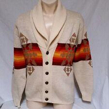 VTG Pendleton Cowichan Sweater Wool Shawl Western Wear Aztec Big Lebowski Large