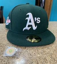 "hat club exclusive Oakland Athletics Pink"" Brim 7 1/8 Green Eggs & Ham Era"