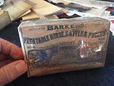 Vintage Veterinary-Barker's Vegetable Horse, Cattle And Poultry Medicinal Powder
