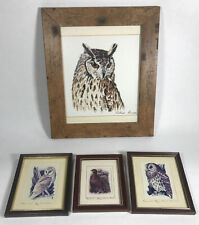 More details for tawny barn owl grouse ltd ed prints signed the brent gallery david burns? framed