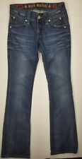 Rock Revival Jeans Stephanie Boot Cut Distressed Sz 27x34  Womens
