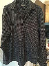 Cotton Double Cuff Formal Shirts for Men Grandad Collar