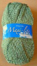 6 X 100g King Cole Maxi Lite Super Chunky Knitting Yarn 24 Wool 936 Clover