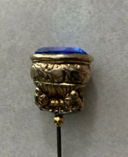 Pretty Handcrafted Hat Pin With Gold Colored Head With Blue Stone