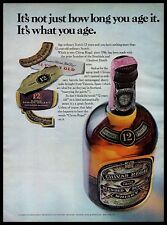 1972 Chivas Regal Blended Scotch Aged Whisky Bottle 1970s Vintage Photo Print Ad