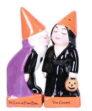 New! Halloween Gnomes Ceramic Magnetic Salt & Pepper Shakers Gift 12776