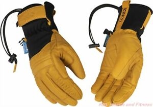KINCO HydroFlector Skyliner Mens Lined Premium Grain Buffalo Heatkeep Ski Gloves