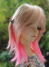 Dollfie BJD SD wig Perücke Jojo, blonde/pink size 8-9