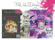 New PINK INK DESIGNS clear rubber stamps BUFFALO Jill fauna series free USA ship