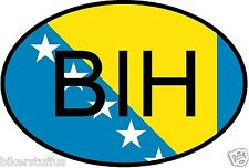 BIH BOSNIA COUNTRY CODE OVAL WITH FLAG STICKER