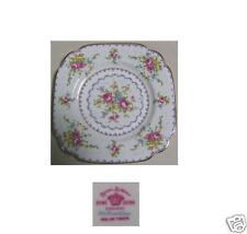 "PETIT POINT SALAD PLATE 7 5/8""  BY ROYAL ALBERT CHINA"