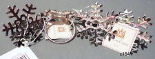 Waterford Silver Snowflake Napkin Rings Set of 4 - New With Tags