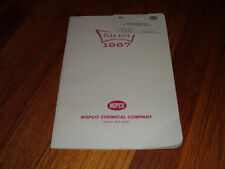Nopco Chemical Company 1967 Plan Book & Business Card Monthly Planner Unused old
