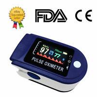 Pulse Oximeter Fingertip Blood Oxygen SpO2 Monitor PR PI heart rate FDA CE
