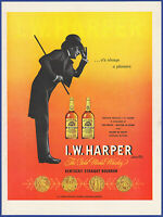 Vintage 1955 I.W. HARPER Kentucky Bourbon Whiskey Alcohol Liquor 50's Print Ad