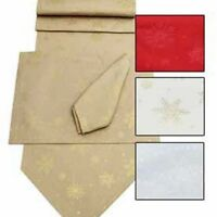 Sparkly Snowflakes Christmas Tablecloths, Napkins, Table Runners, Placemats