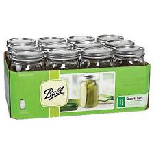 4 X Quarts 950ml Singles Wide Mouth BALL Mason Preserving Jars BPA Lid