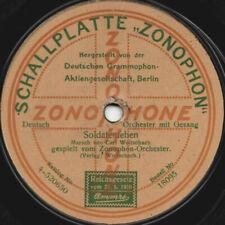 """78er Marschmusik Soldatenlied Zonophon-Orchester """"Soldatenleben"""""""