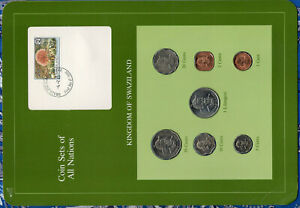 Coin Sets of All Nations Swaziland 1975-1982 20, 5 cents, 1 Lilangeni 1979