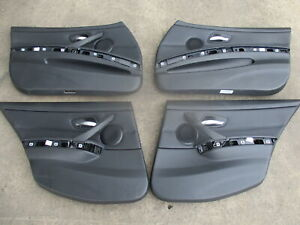BMW E91 3 SERIES TOURING BLACK LEATHER DOOR CARDS SET OF 4
