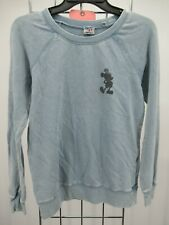 H5224 Junk Food Women's Long Sleeve Mickey Mouse Pull Over Sweatshirt Size Xs