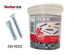 Box 250 TASSELLI IN NYLON FISCHER CON VITE diametro da 6 mm UNIVERSALI 531386
