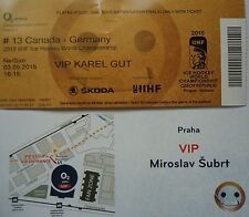 VIP TICKET Eishockey WM 3.5.2015 Canada - Deutschland in Prag