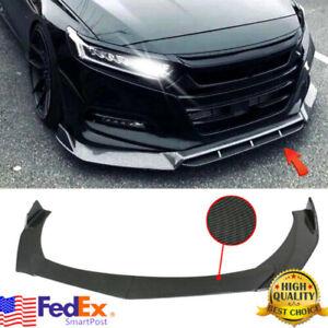 Carbon Look Front Bumper Lip Spoiler Splitters Body Kit For Honda Civic Accord