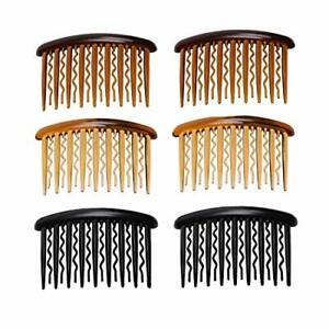 6Pcs Plastic Hair Side Combs Hairpin Clip with Teeth Hair Accessories for Women