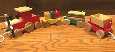 Vintage WOOD TRAIN Playset