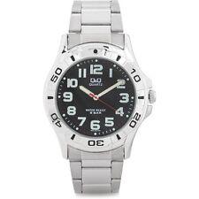 NEW Q&Q men silver stainless steel Watch q626j205y