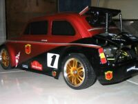 Carrozzeria body RC 1/10 FIAT 500 ABARTH TOURING -RALLY LEGEND+ADESIVI 190mm