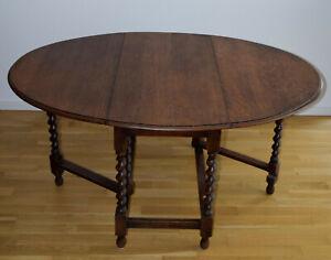 Gateleg Tisch oval, England ca 1900, Eiche, gebraucht