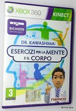 XBOX 360 DR. KAWASHIMA ESERCIZI PER LA MENTE E IL CORPO PAL Manuale in Italiano