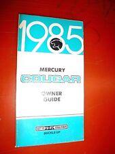 1985 Mercury Cougar Original Factory Operators Owners Manual Guide