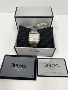 Bulova Watch 96R000 Diamond Accent Chronograph Stainless Steel Bracelet 29mm96