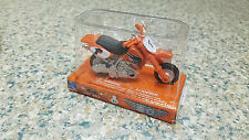 NIB New-Ray Power Up Mini Dirtbike Pull-Back Toy, Orange