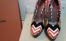 MISSONI Zig Zag Court Shoes 6 / 39 Red Black White Multicolour.