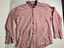 TOMMY HILFIGER L/S CASUAL SHIRT~PINK SIZE LARGE