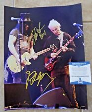 Robby Krieger & Slash Signed Autographed 11x14 Live Photo Beckett Certified