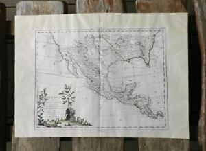Antique Map 1785 Mexico Texas Florida to California LA NM AZ