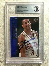 1996-97 SP Allen Iverson #141 RC Signed BGS Autheticated